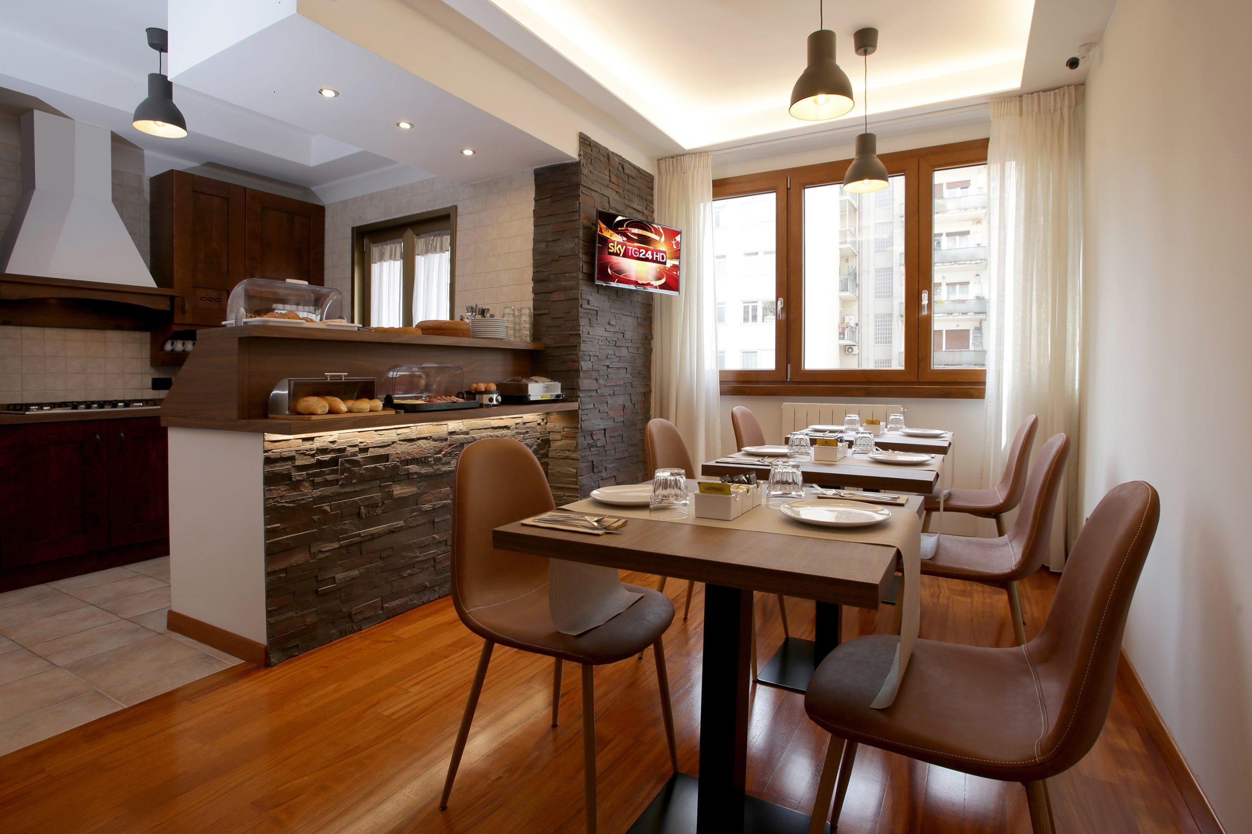 J24 B&B - bed & breakfast roma eur - sala colazione