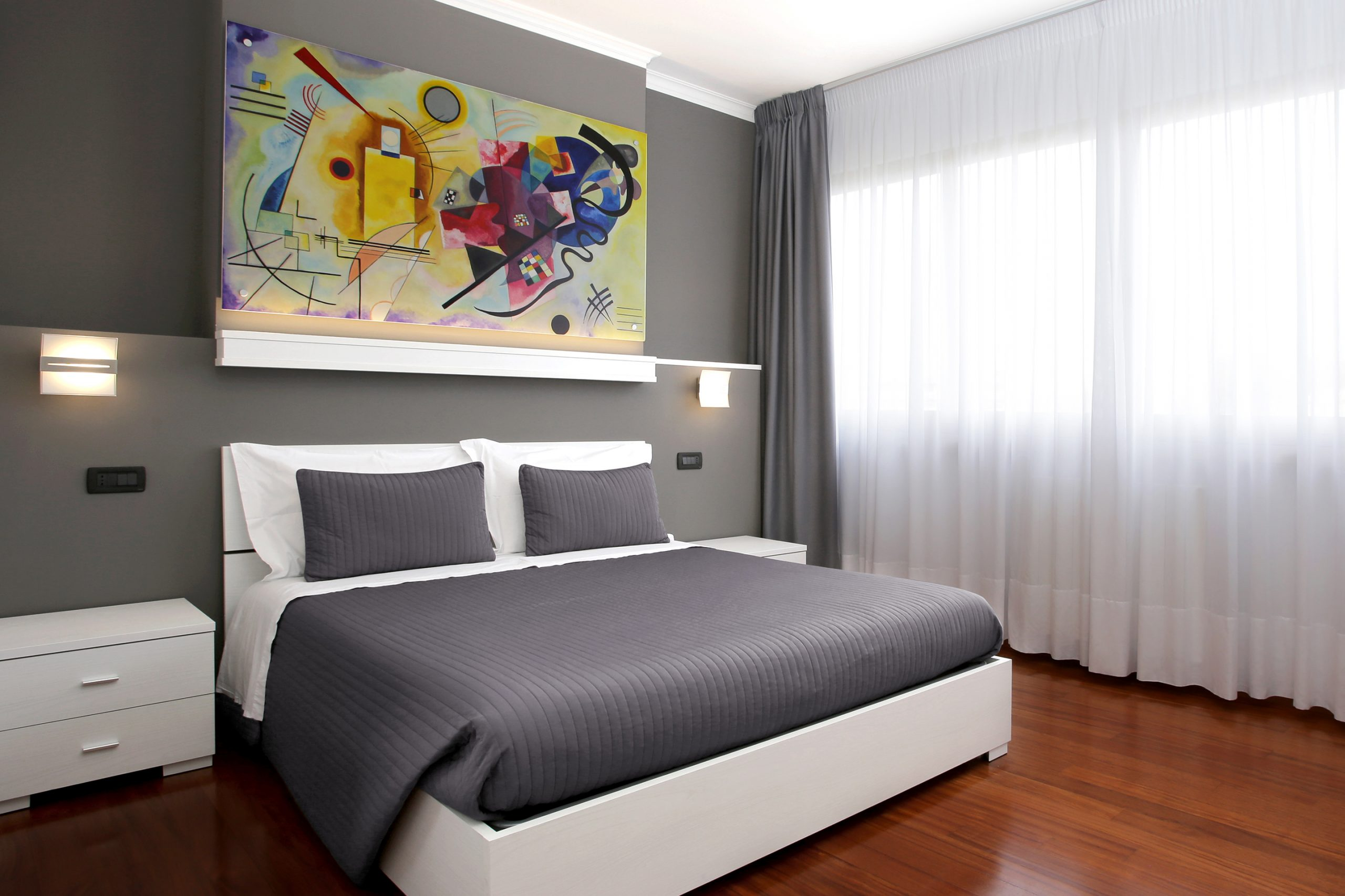 J24 B&B - bed & breakfast roma eur - Kandinsky - camera matrimoniale con bagno privato